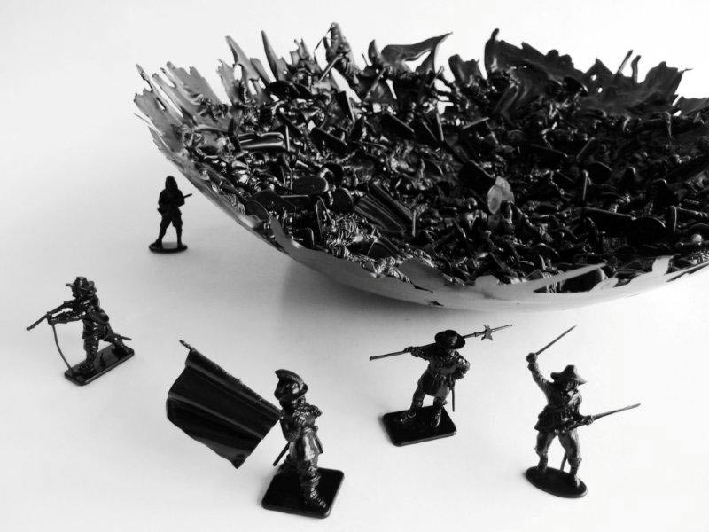 English Civil War War Bowl by Dominic Wilcox